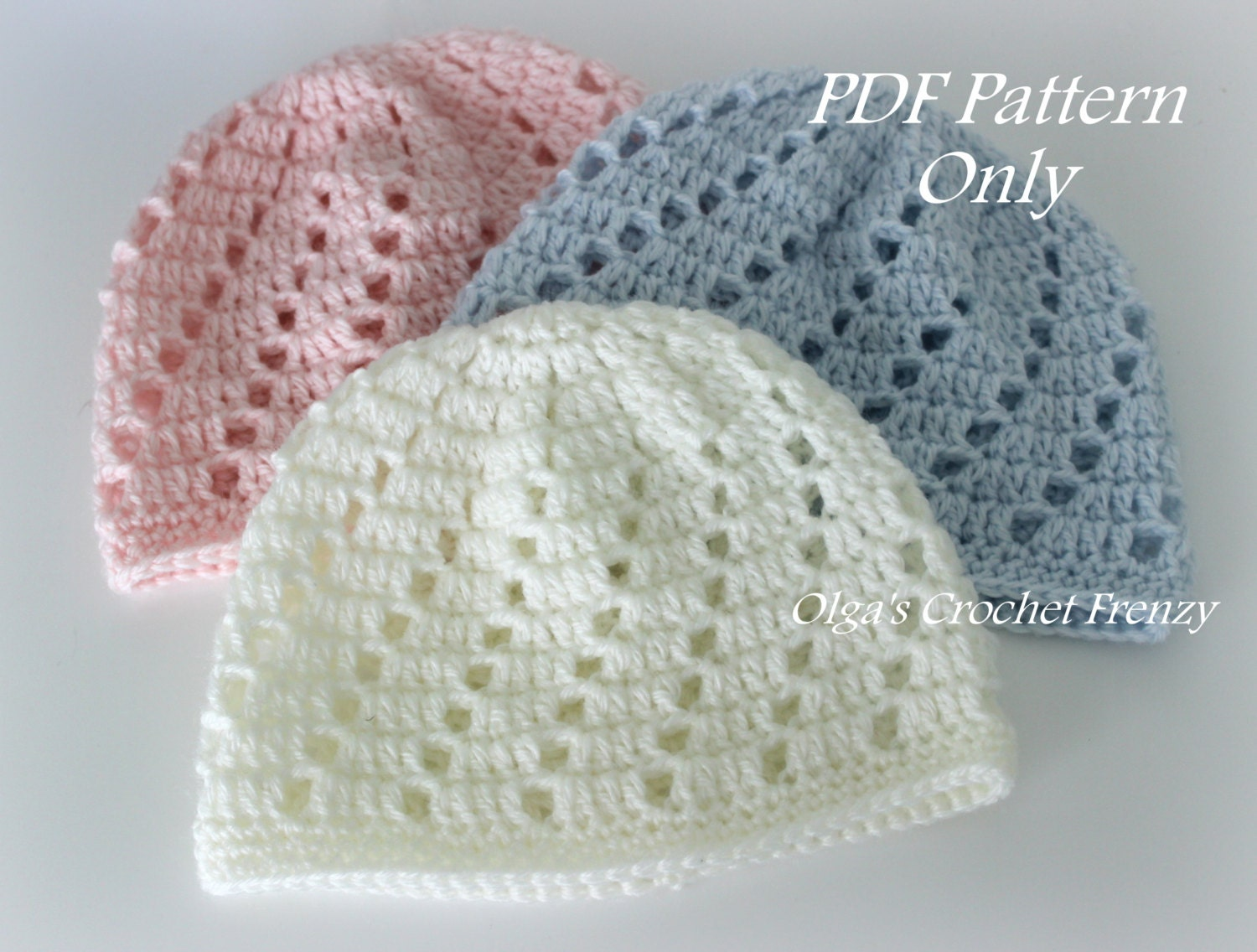 Baby Beanie Hat Crochet Pattern Beginner Skill Level Size