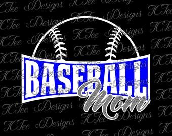 Baseball Mom -  Baseball SVG File - Vector Design Download - Cut File