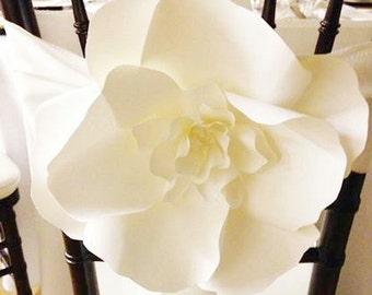 AS SEEN ON Wedding Bells Magazine - Large Paper Flowers - Decorative Chair - Aisle Decor Paper Flower