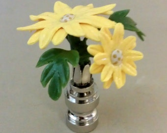 Daisy Lamp Finial Hand Crafted in Custom Colors