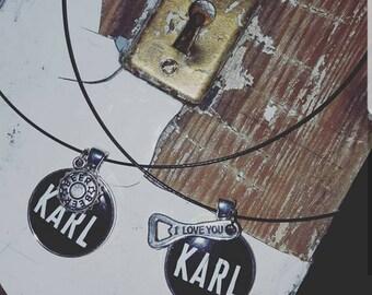 Craftbeer necklace, beer jewelry, bottle cap