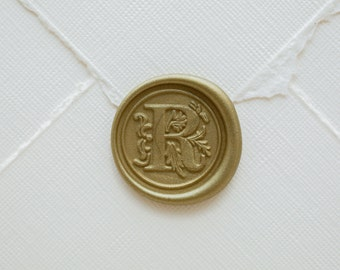 R Letter Wax Seal | Initial Wax Seal Stamp