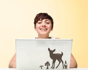 Mini Woodland Animal Silhouette Scene Kit Vinyl Wall Decals