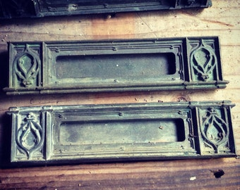 Antique Copper Mail Slot