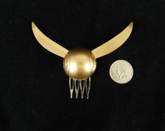 The ORIGINAL Harry Potter Golden Snitch Hair Comb now comes with gold or silver wings!