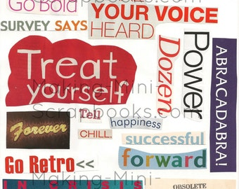 Words Collage Sheet