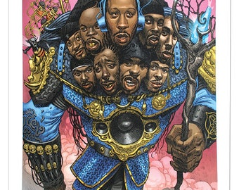 Wu-Tang Clan - Limited Edition Giclee Print Dan Lish Ego Strip Hip Hop Series