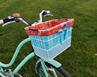 Bike Basket Liner for Rectangular Sunlite Front Lift Off Mesh Bottom Basket