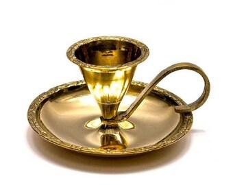 "Bronze candle holder with handle ""Bugwar"""