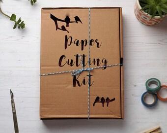 Paper cutting kit, DIY kit, Introduction to paper cutting, Paper cutting templates, FREE P&P