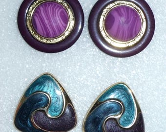 Vintage 80's Business Style Earrings