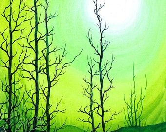RW2 Signed Limited Edition Print Cadmium Dawn Art Surrealism lowbrow