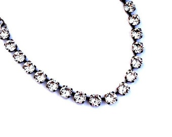 Haute Couture Collection--Swarovski Crystal Necklace-Clear Crystal, Diamond Like, Perfect for Brides, Bridesmaids, Bridal Parties, Prom