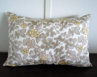 Silk Pillow Cover, Linen Pillow Cover, Floral Pillow, 16x24, Bed Pillows, Floral Print Pillows