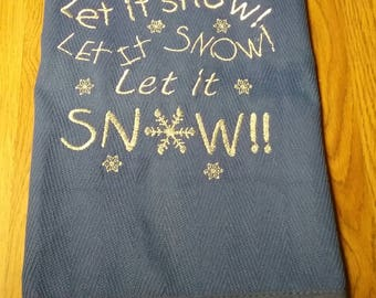 Personalized Christmas towel