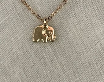 Elephant Necklace, Wildlife Necklace, Nature Necklace, Necklace, Child Necklace, Teenager Necklace, Great Gift, Gift, Small charm Necklace
