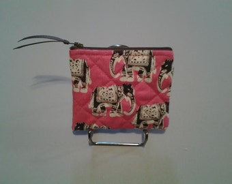 Pink elephant - Coin Purse - CP135