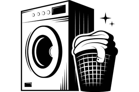 laundry logo 1 washing machine wash clean clothes maid rh etsy com laundry clipart free laundry clipart images free