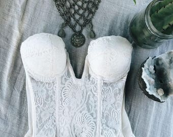 ꕻ VTG Lace Bustier ꕻ