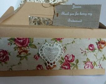 Personalised wedding gift box. Bridesmaid. Children