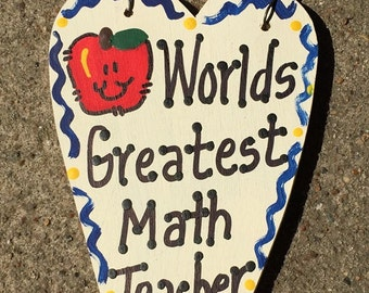 Math Teacher Gifts Worlds Greatest Math Teacher