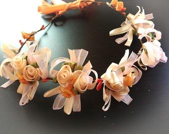 Salmon pink flower Crown