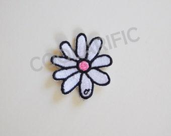 White Flower Sticker Patch