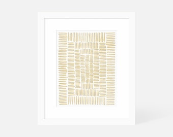 Minimalist Watercolor Art Print / Vertical Abstract Art / Large Gallery Art / 18x24 16x20 11x14 8x10 5x7 / Framed and Matted