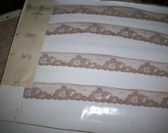 Antique lace yard or bolt alencon lace french origin 1920 yardage pure cotton wholesale