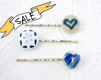 SALE - Delft Blue - Hair Pin Trio