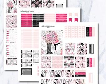 Be My Valentine Printable Vertical Erin Condren Planner Stickers Kikki K Personal