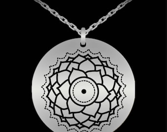 7th Chakra Stainless Steel Necklace Yoga Jewelry Awareness Expanding Energy