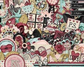 On Sale 50% My Beloved Digital Scrapbook Kit - Digital Scrapbooking