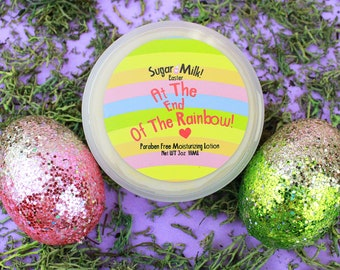 At the End of the Rainbow Lotion, Easter Lotion, Body Lotion, Body Butter, Grape Lotion, Peach Lotion, Raspberry Lotion, Natural Lotion