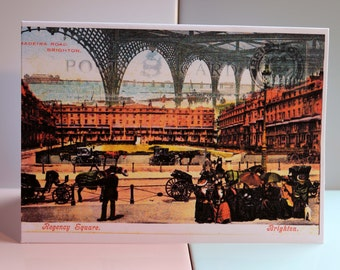 Choose from 5 different Sussex Greeting Card Scenes, Glynde Village, Brighton Seafront, Palace Pier, Regency Square & Brighton Pavilion.
