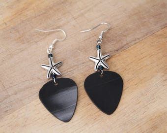 Starfish Vinyl Guitar Pick Earring