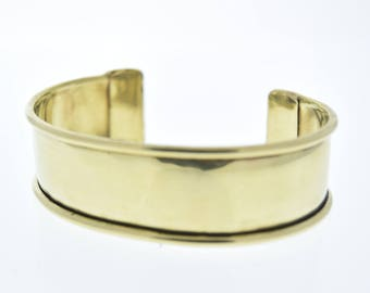 """Cuff Bracelet for Embellishment, Channel for adding art or other media , each , .75"""" wide"""