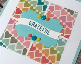 Grateful Handmade Card