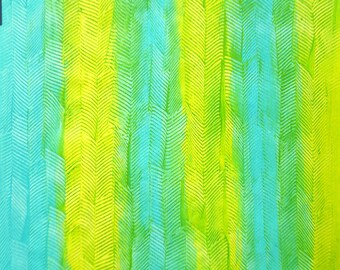 """paste paper for album srapbooking or handmade boxes, 19,5x27,3"""", """"wild chevron on yellow-turquoise"""""""