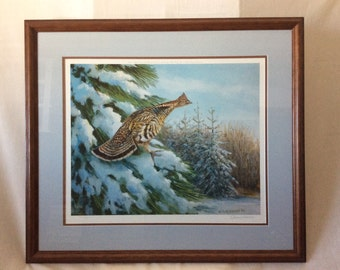 "O.J. Gromme limited edition ""Winter Ruffled Grouse"""