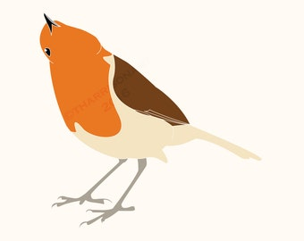 Instant digital download. Original illustration of a Robin by Thomas Harrison