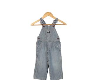 Osh Kosh Hickory Striped Kids Overalls Size 2T