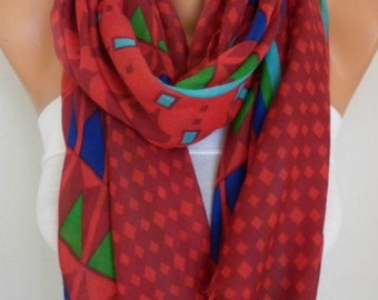 Red Cotton Scarf,Summer Scarf Cowl Bridesmaid Gift Beach Wrap Pareo Gift Ideas For Her Women Fashion Accessories,Birthday Gift,Bridal Scarf