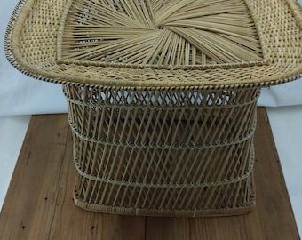 Wicker/ Rattan / Coffee Table / End Table / Plant Stand / Bohemian