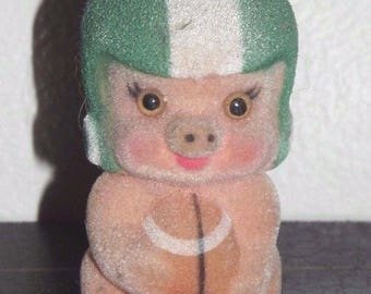 Vintage russ berrie Piggy Wiggies football (A016)