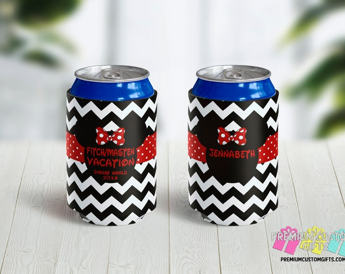 Disney Vacation Can Coolies - Monogrammed Can Coolers - Custom Can Coolers - Destination Can Coolies - Beer Can Coolers - Personalized
