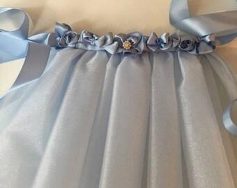 Blue tutu, tulle skirt for tiny baby