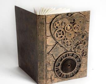 Steampunk Notebook Heart