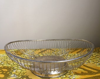Retro vintage bread basket