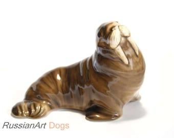 Walrus porcelain figurine,  statue